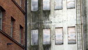 Gamla silorna i Inre hamnen i Vasa.