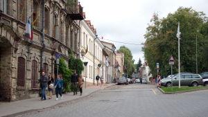 Gatuvy från Užupis i Vilnius.