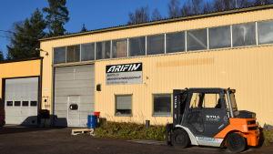 Företaget Arifins metallverkstad i Täkter, Ingå.