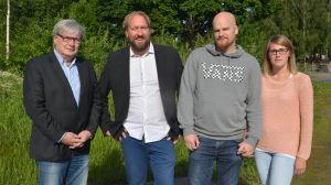 Kenneth Grönroos, Fredrik Martin, Isak Vilander och Jessica Vilander.