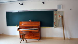 Ett av klassrummen i Södra Vallgrund skola.