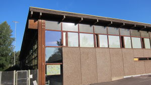 Grankulla simhall i augusti 2015, stängd pga brand