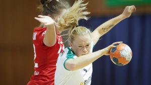 Johanna Hilli i match mot Dicken 2020.