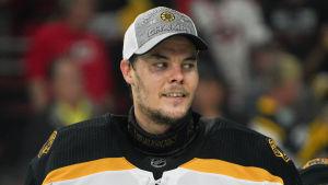 Tuukka Rask är en stark kandidat för priset som slutspelets bästa spelare.