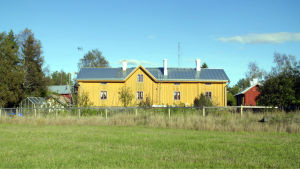 Pellas gård, bild ur filminspelning om Korpo