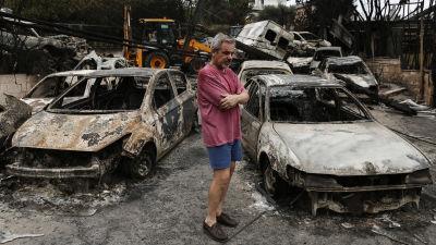 Efter branderna i aten oversvamningar