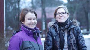 Carlotta Björklöf och Heida Lindqvist kör i gång reko-handel i Nagu