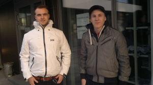 Ville Rusi och Aleksi Tammi stod först i kön på tisdag morgon