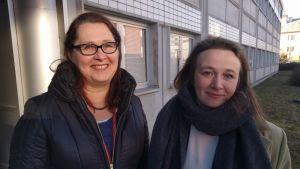 Margareta Vihersaari och Luzilla Backa.