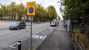 Taxistolpe i Borgå.