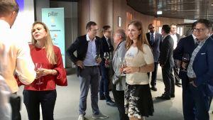 Liten fest på Blockchain Centre Vilnius