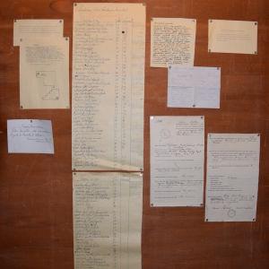 Informationstavlan med listan över de dödsdömda