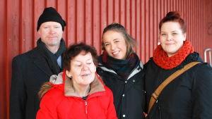 Dan Andersson, Carita Björklund, Alexandra Mangs och Isa Lindgren-Backman