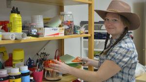 Mette Nyberg är ansvarig barnträdgårdslärare i Trolldalens daghem i Sjundeå.