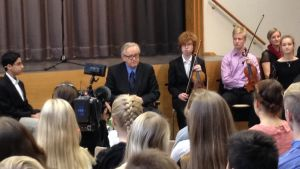 President Martti Ahtisaari i Åbo 2014 i samband med Ahtisaaridagarna