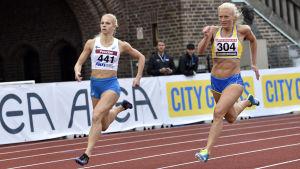 Jeanine Nygård och Matilda Hellqvist, Sverigekampen 2017.