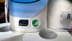 vessapaperirulla Serla kääre triogreen -biomuovia