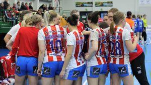 BK-46:s damlag våren 2019 i en match mot Dicken.