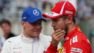Valtteri Bottas, Sebastian Vettel.
