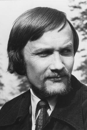Bengt Ahlfors 70-luvulla mustavalkoisessa kuvassa.
