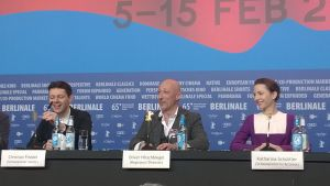 presskonferens under Berlinale-festivalen.