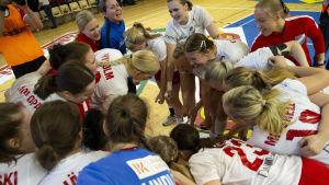 HIFK firar segern i den fjärde handbollsfinalen våren 2019.