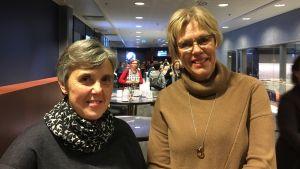 Marita Björkman och Christina Forssell-Eerola jobbar inom småbarnsfostran vid Vasa stad.