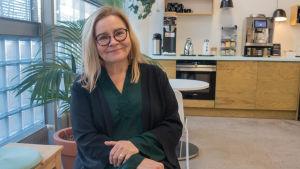 Porträtt på Tiina Härkönen