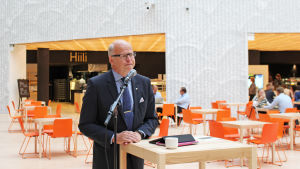 reijo karhinen är chefdirektör för OP Gruppen, september 2015 i nya utrymmen i Vallgård