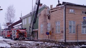 Brand på naturhistoriska museet Kieppi i Karleby.