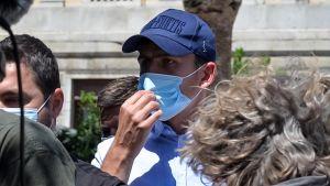 Harry Maguire står åtalad i Grekland.