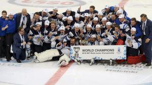 Unglejonen vann VM-guld