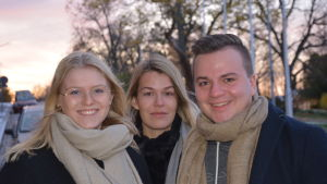 Julia Liewendahl, Fransilia Bengtfolks och Ville Arponen studerar till lärare vid Åbo Akademi i Vasa.