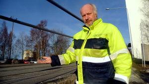 Björn Gustafsson, arbetsledare på Vasa gatusektor.