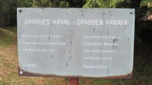 Grabbes kanal i Kroggård har gamla anor.