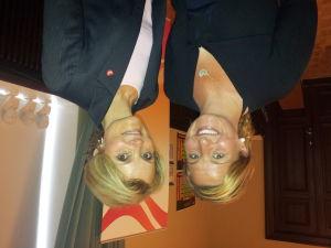 Stina Lindholm och Cathrin Alenskär från Umeå kommun besökte Vasa för att presentera Umeå2014.