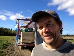 Grönsaksodlare Christer Finne