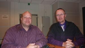 Jan-Erik Gustafsson och Dan Idman.