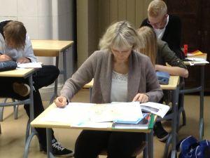 Eva Bergström-Laiho i skolan