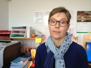 Kerstin Aspelin är klassslärare vid mattlidens skola i Esbo