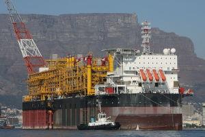 FPSO Dalia har en kapacitet på 2 miljoner tunnor. På väg från Angola till Kapstaden