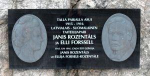 Elli Forssell, Janis Roszentals