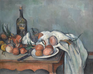 Paul Cézanne:  Still Life with Onions
