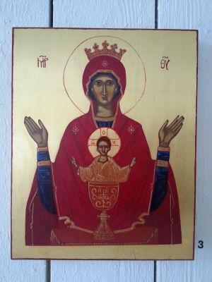 tecknets Gudsmoder ikon