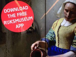 Jan Vermeers oljemålning med kvinna med mjölkkanna