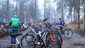 koulun pyöräparkki