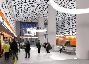Idrottsparkens metrostation.