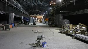 Mattby metroperrong under konstruktion.