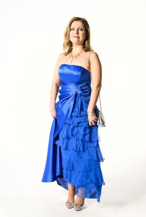 Katja Johansson med inkorrekt klädsel inför slottsbalen
