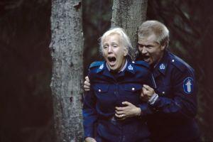 Näyttelijät Merja Larivaara (roolinimi Marita) ja Taisto Reimaluoto (roolinimi Oiva).
